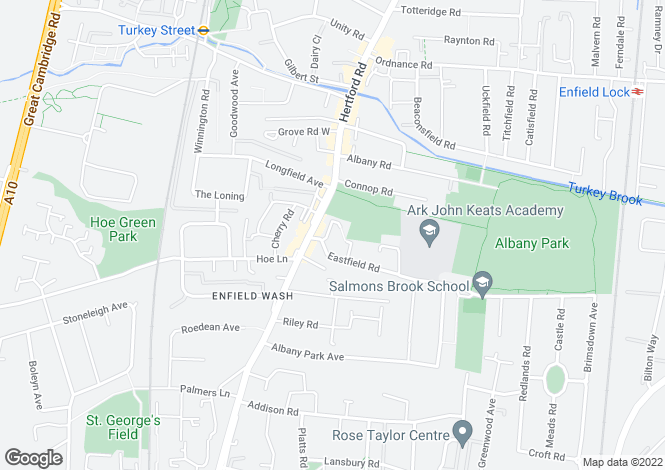 Map for Herm House 10 Eastfield Road, Enfield Middlesex EN3