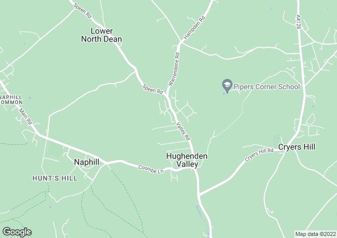 Map for Frogmore Close, Hughenden Valley, High Wycombe