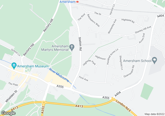 Map for Station Road, AMERSHAM HP7 0BB