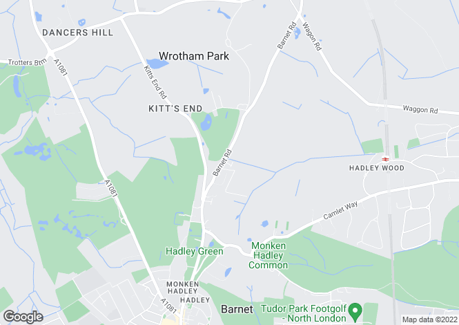 Map for Greenacre Close, Hadley Highstone