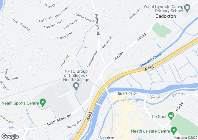 Map for 7 Cadoxton Road, Neath