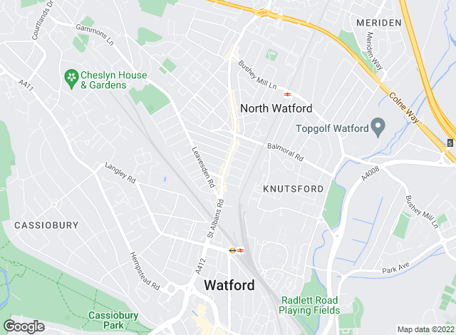 Map for Harry Charles Estate Agents, Watford - Lettings