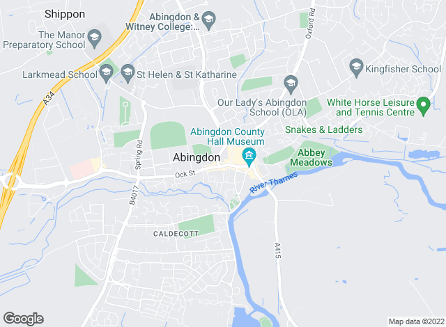 Map for Hodsons, Abingdon