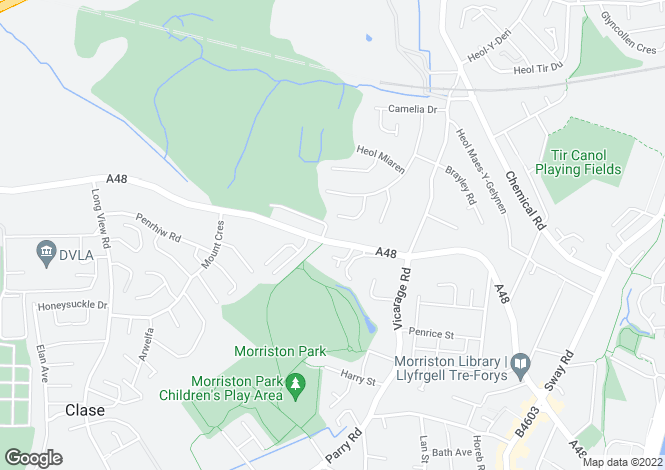 Map for 146, Clasemont Road, Morriston, Swansea, SA6