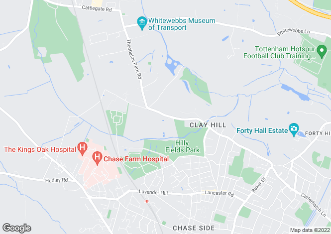 Map for Clay hill, Enfield, England