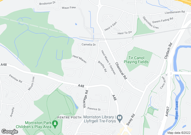 Map for Vicarage Rd,Morriston