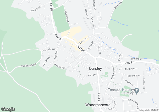 Map for Henlow Drive, Dursley