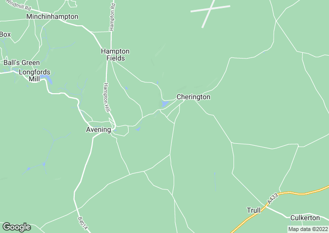Map for Cherington, Nr Tetbury, Gloucestershire, GL8