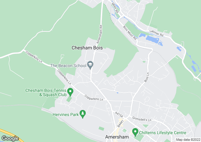 Map for Clifton Road, CHESHAM BOIS.