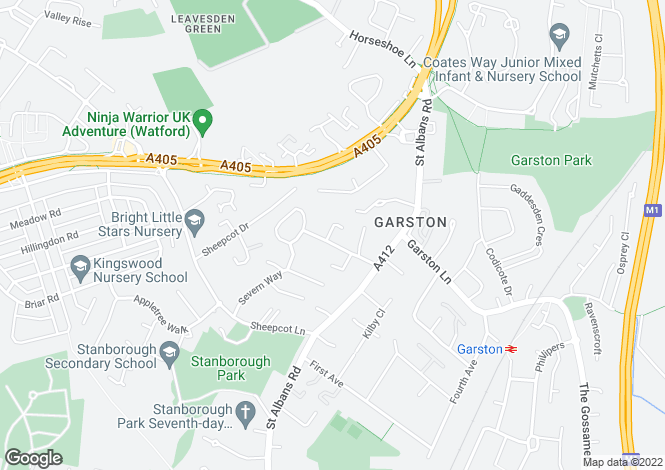 Map for Garston Drive, Watford WD25