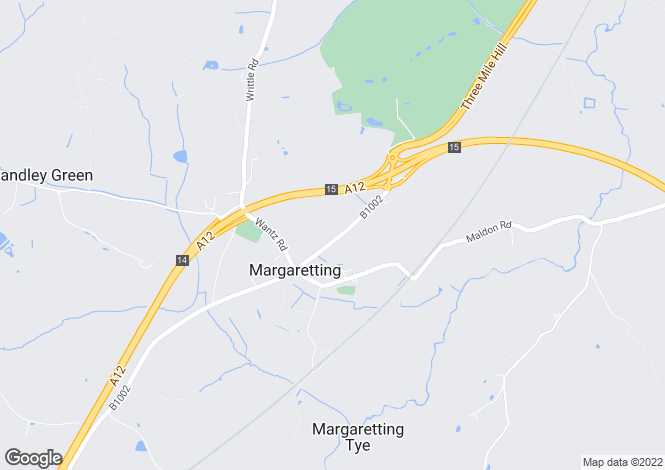 Map for Margaretting