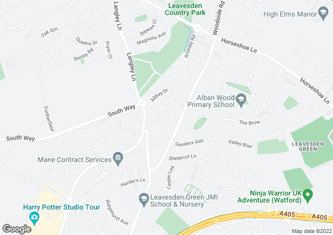 Map for Blenheim Road, Abbots Langley WD5