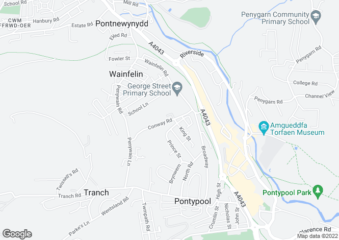 Map for Conway Road,