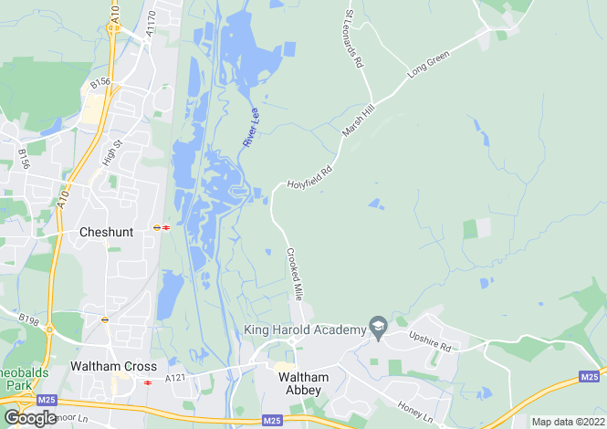 Map for Monkhams, Waltham Abbey, Essex