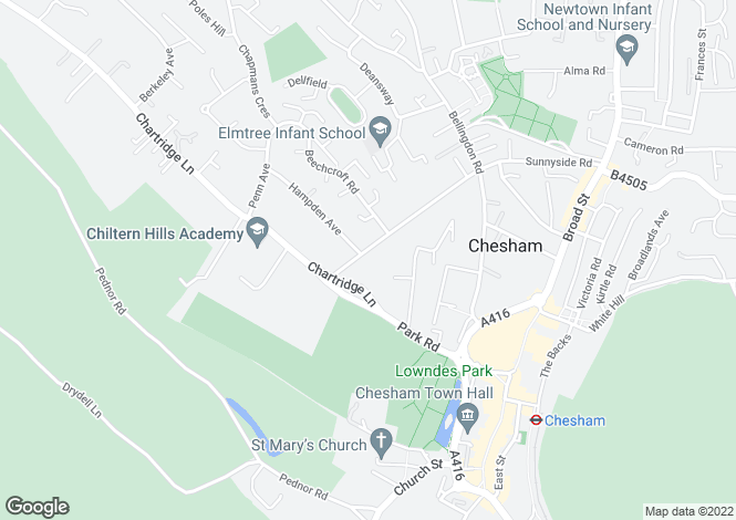 Map for Lowndes Avenue Chesham