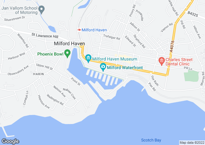 Map for P2847 - Milford Haven Marina