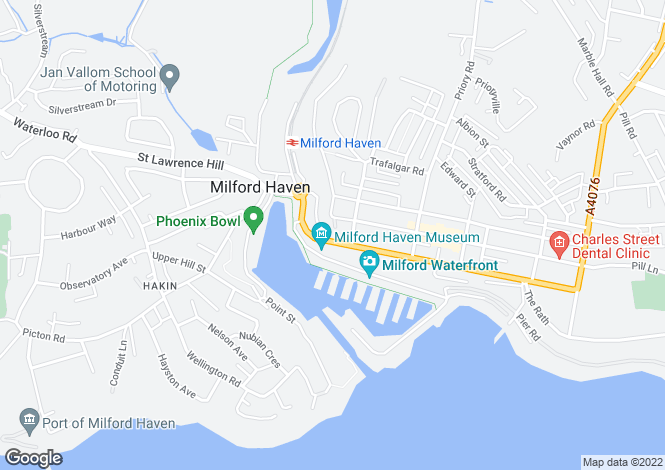 Map for P5023 - Milford Haven