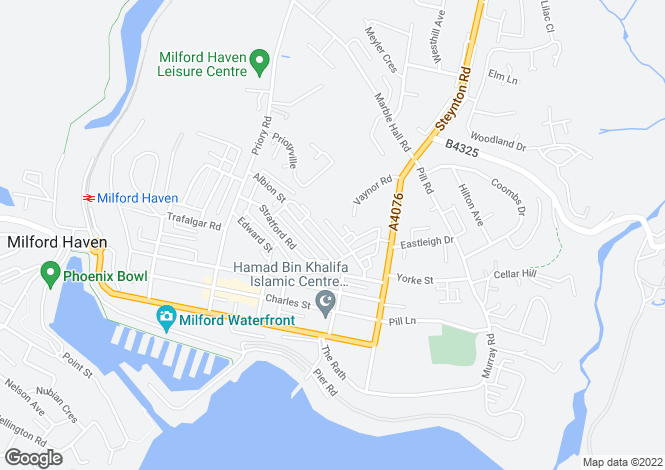 Map for Brook Avenue, Milford Haven, Pembrokeshire