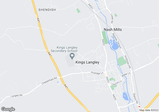Map for Barnes Lane, Kings Langley, Hertfordshire, WD4 9LA
