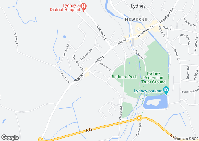 Map for Darters Close, LYDNEY, Gloucestershire
