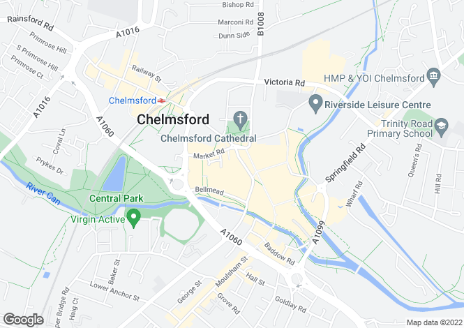 Map for 8 Exchange Way, High Chelmer Shopping Centre, Chelmsford, Essex, CM1 1XB