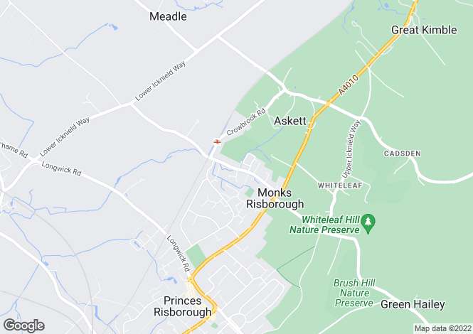 Map for Mill Lane, Monks Risborough, Princes Risborough, Buckinghamshire, HP27