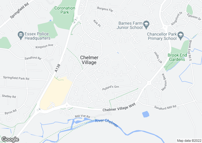 Map for Chelmer Village