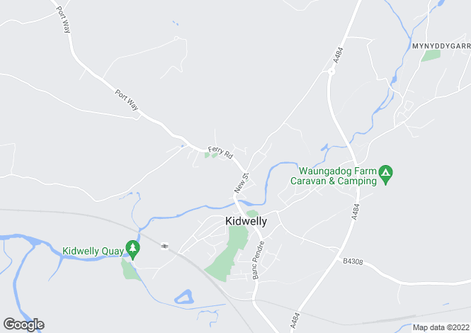 Map for Kidwelly