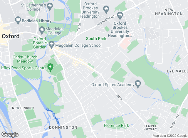 Map for Chancellors, East Oxford Lettings