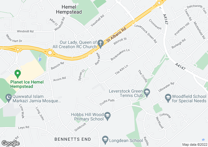 Map for Fir Tree Close, Leverstock Green, Hemel Hempstead, Hertfordshire