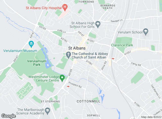 Map for Ashtons, St Albans
