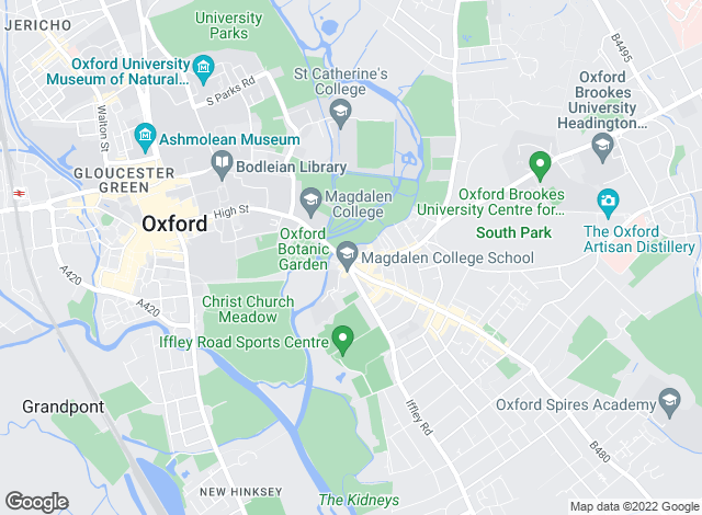 Map for Taylors Lettings, Oxford City