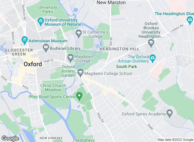 Map for Hutton Parker, Oxford