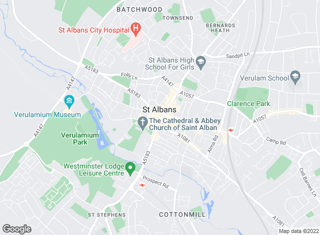 Map for Taylors Estate Agents, St. Albans