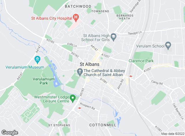 Map for Connells Lettings, St. Albans
