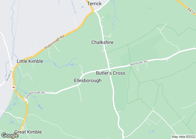 Map for Ellesborough Road, Butlers Cross, Bucks