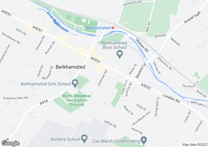 Map for Chesham Road, Berkhamsted