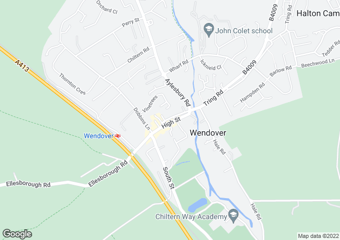 Map for Flat 3, High Street, Wendover, Bucks