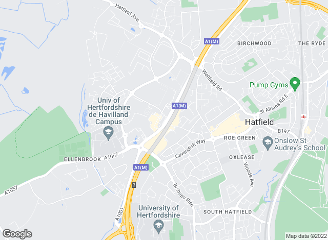 Map for Airfield Room Lets, Hatfield- Lettings