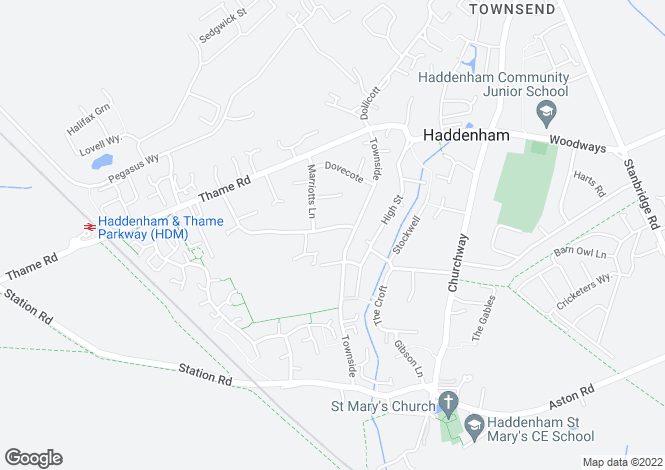 Map for Wykeham Way, Haddenham, Aylesbury, Buckinghamshire, HP17