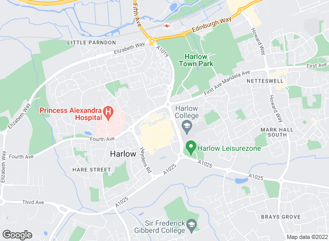 Map for Martin & Co, Harlow - Lettings & Sales