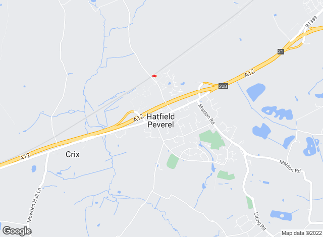 Map for Paul Mason Associates, Hatfield Peverel
