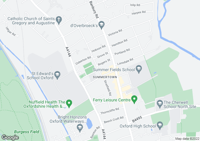 Map for Middle Way Summertown