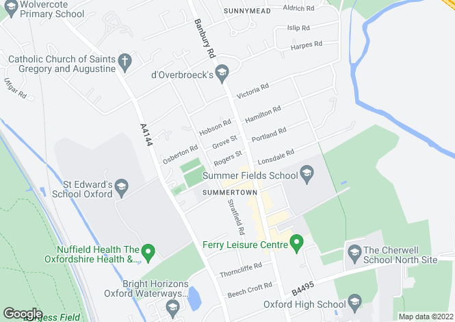 Map for Rogers Street Summertown