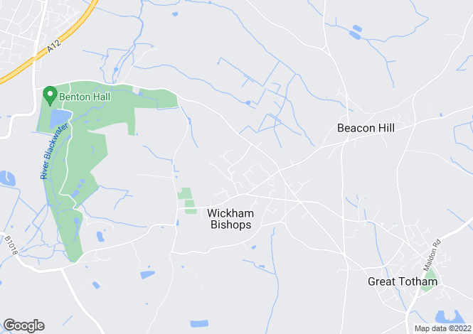 Map for Wickham Bishops