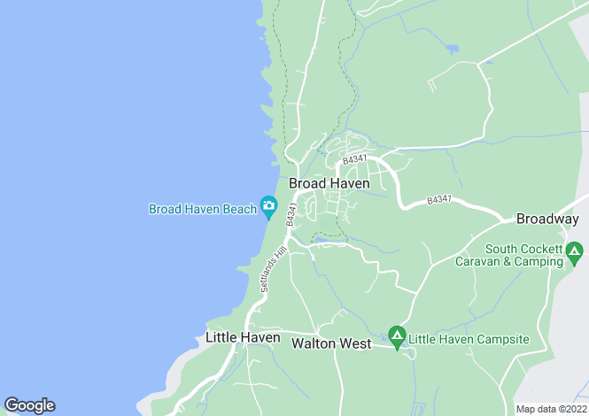 Map for P5073 - Broad Haven