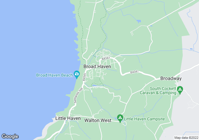 Map for Broad Haven
