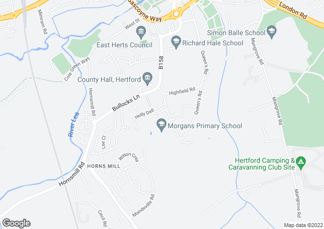 Map for Morgans Road, Hertford, Hertfordshire, SG13