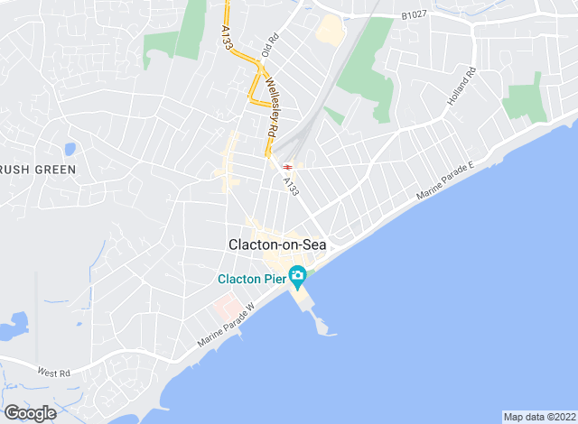 Map for Blake & Thickbroom, Clacton on sea