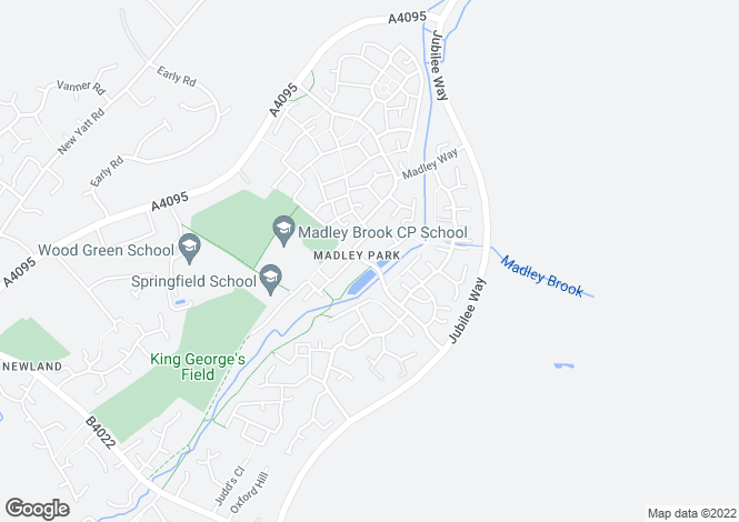 Map for Madley Brook Lane, Witney